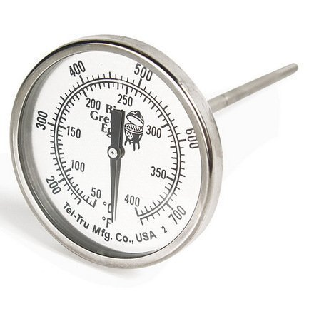 Термометр штатный, круглый, шкала +50/+400С 117236 Big Green Egg