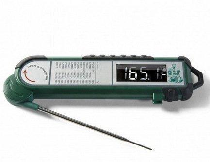 Big Green Egg Термометр цифровой с щупом, в зелёном корпусе PT100