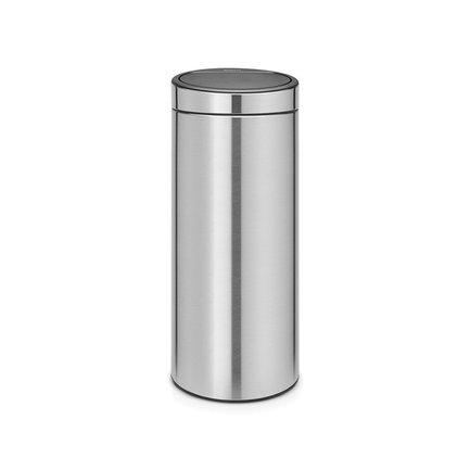 Brabantia Мусорный бак Touch Bin New (30 л), 31х72 см, стальной матовый 115349 Brabantia brabantia мусорный бак flipbin 30 л белый