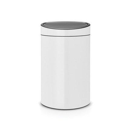 Brabantia Мусорный бак Touch Bin New (40 л), 72.7х43.5х30 см, белый 114984 Brabantia brabantia мусорный бак flipbin 30 л белый