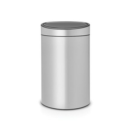 Brabantia Мусорный бак Touch Bin New (40л), 72.7х43.5х30см, cерый металлик 114922 Brabantia brabantia мусорный бак touch bin 30 л