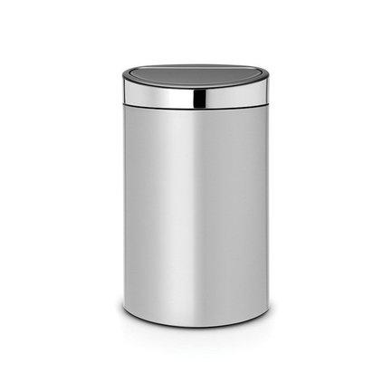 Brabantia Мусорный бак Touch Bin New (40л), 72.7х43.5х30см, серый металлик 114861 Brabantia brabantia мусорный бак touch bin 30 л