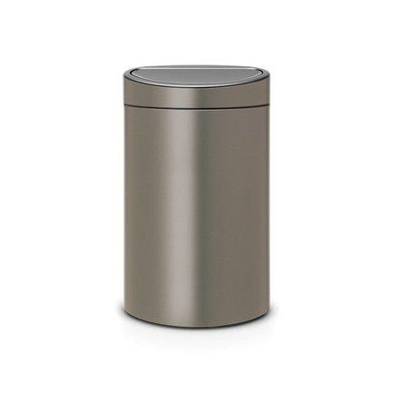 Brabantia Мусорный бак Touch Bin New (40 л), 72.7х43.5х30 см, платиновый 114908 Brabantia brabantia мусорный бак flipbin 30 л белый