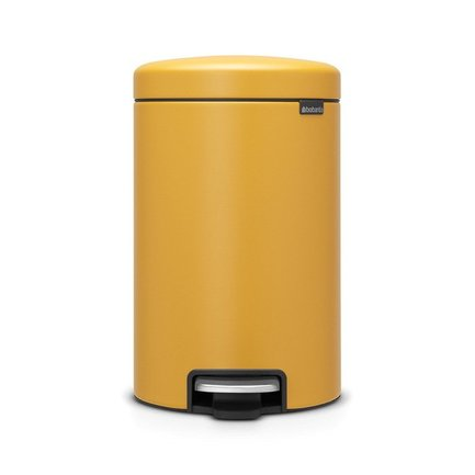 Brabantia Мусорный бак с педалью newIcon (12л), 34х25х41см, горчично-желтый 115868 Brabantia brabantia мусорный бак с педалью newicon 3 л 26 4х17х23 5 см мятный металлик