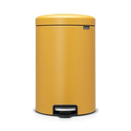Brabantia Мусорный бак с педалью newIcon (20 л), 29х38х46 см, горчично-желтый brabantia мусорный бак с педалью newicon 5 л 29 2х20 6х26 6 см черный матовый