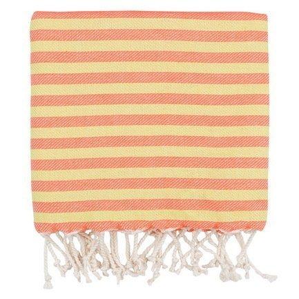 Полотенце пляжное Herringbone Pestemal, 100х180см, оранжевое