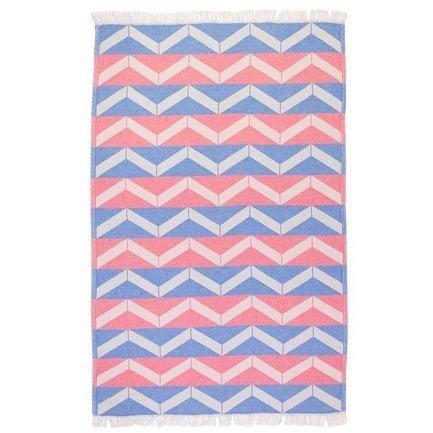 Полотенце пляжное Ups and Downs Pestemal, 90х160 см, сине-розовое
