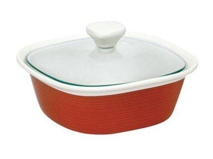 Corningware Форма для запекания квадратная (1.4л) с крышкой, красная, 21х21см 1093848 Corningware трафарет мандала 3 21х21см 1138828