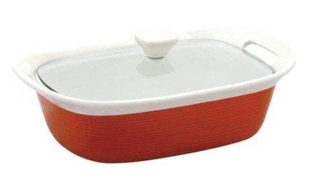 Corningware Форма для запекания прямоугольная (2.3 л) с крышкой, красная, 32.4х21.8 см