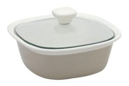 Corningware Форма для запекания квадратная (1.4л) с крышкой, бежевая, 21х21см 1096828 Corningware трафарет мандала 3 21х21см 1138828