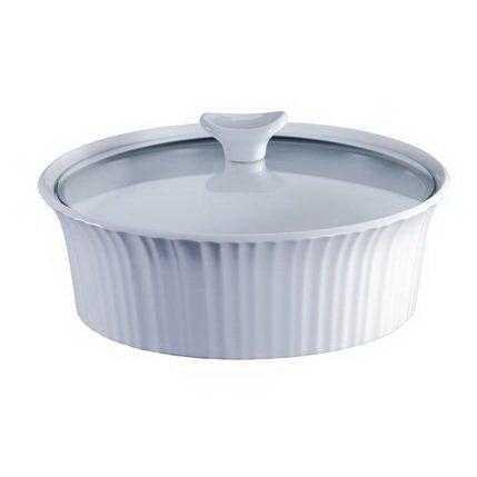 Corningware Форма для запекания круглая (2.4 л), 25х9 см, с крышкой 1105930 Corningware форма для запекания calve круглая цвет желтый белый 150 мл