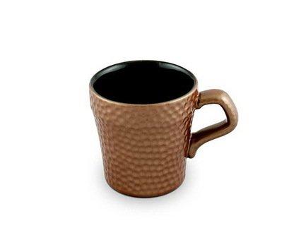 Ceraflame Чашка для кофе Ceraflame Hammered 0,15л. медная D9449 Ceraflame ceraflame мятый стаканчик керамический белый 0 24л 080700g ceraflame