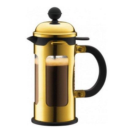 Bodum Кофейник с прессом Chambord (0.35 л), золотой 11170-17 Bodum bodum кофейник с прессом chambord 0 35 л с медным покрытием