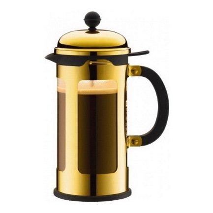 Bodum Кофейник с прессом Chambord (1 л), золотой 11172-17 Bodum bodum кофейник с прессом chambord 1 л золотой