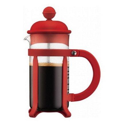 Bodum Кофейник с прессом Java (0.35 л), красный bodum кофейник с прессом chambord 0 35 л с медным покрытием