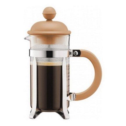 Bodum Кофейник с прессом Caffettiera (0.35 л), кремовый bodum кофейник с прессом columbia 1 л глянцевый