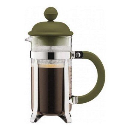 Bodum Кофейник с прессом Caffettiera (0.35 л), светло-зеленый bodum кофейник с прессом columbia 1 л глянцевый