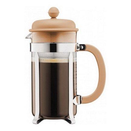 Bodum Кофейник с прессом Caffettiera (1 л), кремовый bodum кофейник с прессом columbia 1 л глянцевый