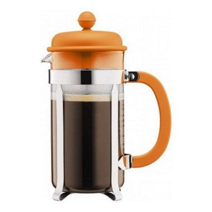 Bodum Кофейник с прессом Caffettiera (1 л), оранжевый городской рюкзак с отделением для ноутбука deuter giga 28 л черный 80414 7000