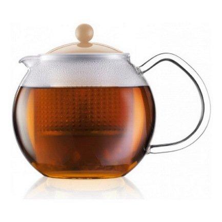 Bodum Чайник заварочный Assam (0.5 л), кремовый чайник заварочный terracotta дерево жизни 1 л