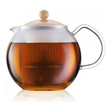 Bodum Чайник заварочный Assam (1 л), кремовый 1830-945B-Y17 Bodum