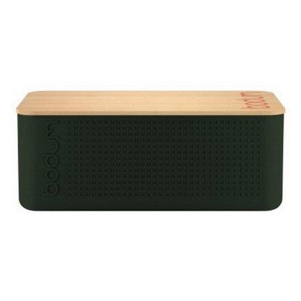 Bodum Хлебница Bistro, 23.7х37х14 см, тёмно-зелёная 11555-946S-Y17 Bodum держатель для бумажных полотенец bodum bistro цвет зеленый высота 26 5 см