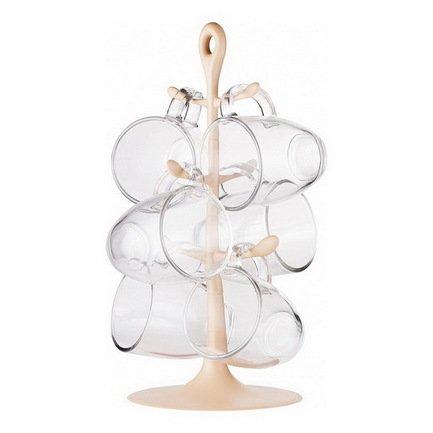 Bodum Набор Copenhagen 6 кружек на подставке, кремовый K2110-945-Y17 Bodum