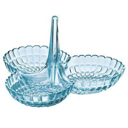 Guzzini Менажница Tiffany, 25х23.5х15.5 см, голубая guzzini салфетница tiffany 15 2х7 6х11 см серая