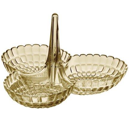 Менажница Tiffany, 25х23.5х15.5 см, песочная 19920039 Guzzini