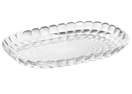 Guzzini Поднос Tiffany L, 45х31х4.5 см, прозрачный