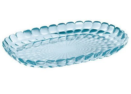 Guzzini Поднос Tiffany М, 32х22.5х3 см, голубой 27960181 Guzzini guzzini менажница tiffany 25х23 5х15 5 см коралловая 19920023 guzzini