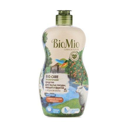 Фото - BioMio Экологичное средство для мытья посуды, овощей и фруктов (0.45 л) BIMI0001 BioMio pigeon средство д мытья детской посуды и овощей сменный блок 700мл