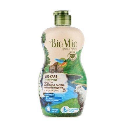 BioMio Экологичное средство для мытья посуды, овощей и фруктов (0.45 л) BIMI0005 BioMio biomio bio sensitive экологичное средство для стирки деликатных тканей без запаха 1 5 л
