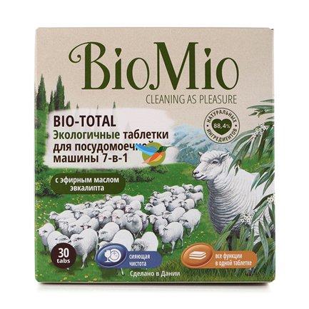 BioMio Экологичные таблетки для посудомоечной машины 7-в-1 (600 г) BIMI0009 BioMio блузка женская oodji ultra цвет белый синий 11400344 2 12836 1275f размер 36 42 170