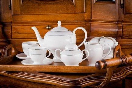 Akky Сервиз чайный Адажио на 6 персон, 15 пр. colombo чайный сервиз из 15 предметов на 6 персон флёр c2 ts 15 3701al