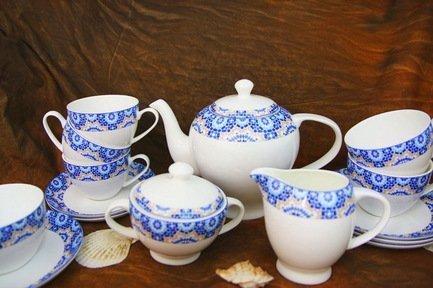 Akky Сервиз чайный Андреа на 6 персон, 15 пр. colombo чайный сервиз из 15 предметов на 6 персон флёр c2 ts 15 3701al