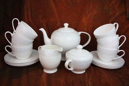 Akky Сервиз чайный Дионис-Грей на 6 персон, 15 пр. colombo чайный сервиз из 15 предметов на 6 персон флёр c2 ts 15 3701al