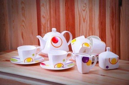 Akky Сервиз чайный Круги на 6 персон, 15 пр. 71502/4 А Akky сервиз чайный bekker bk 7146 15 предметов 6 персон