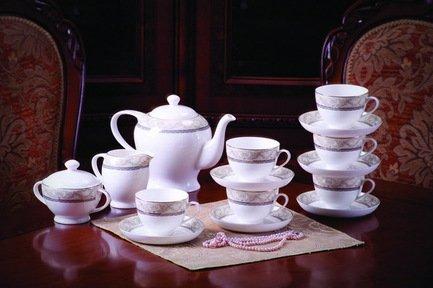 Akky Сервиз чайный Людовик на 6 персон, 15 пр. 71528 А Akky сервиз чайный bekker bk 7146 15 предметов 6 персон