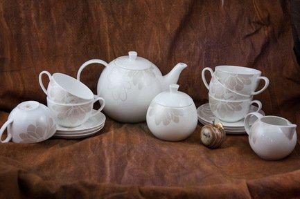 Сервиз чайный Магнолия на 6 персон, 15 пр. 71530 А Akky