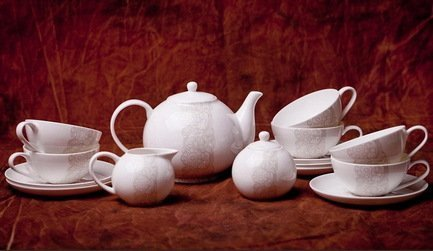 Akky Сервиз чайный София на 6 персон, 15 пр. 71545А Akky сервиз чайный bekker bk 7146 15 предметов 6 персон