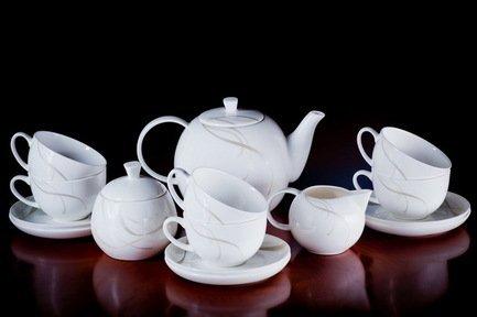 Akky Сервиз чайный Элегия на 6 персон, 15 пр. colombo чайный сервиз из 15 предметов на 6 персон флёр c2 ts 15 3701al