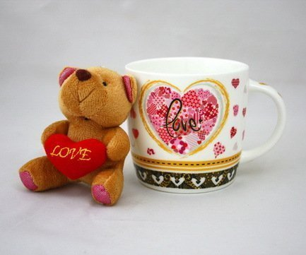 Akky Кружка Love (280 мл), с мишкой 7207 А Akky кружка 280 мл elff ceramics