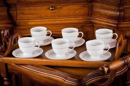 Набор чайных пар Адажио на 6 персон, 12 пр. 71239 А Akky купить teana адажио любви