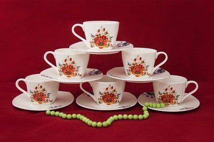 Akky Набор чайных пар Варвара на 6 персон, 12 пр. 71250А Akky набор для пикника на 6 персон picnic ca8477