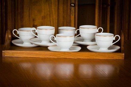 Набор чайных пар Грация на 6 персон, 12 пр. 71240 А Akky akky набор чайных пар розалия на 6 персон 12 пр 71253а akky