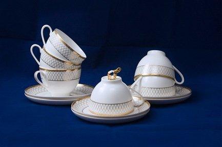 Набор чайных пар Искандер на 6 персон, 12 пр. 71248А Akky akky набор чайных пар розалия на 6 персон 12 пр 71253а akky