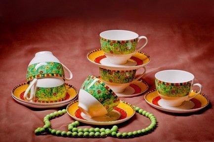 Akky Набор чайных пар Лето на 6 персон, 12 пр. 71246А Akky набор для пикника на 6 персон picnic ca8477