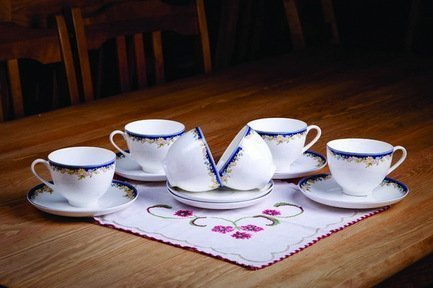 Набор чайных пар Ноктюрн на 6 персон, 12 пр. 71231 А Akky akky набор чайных пар розалия на 6 персон 12 пр 71253а akky