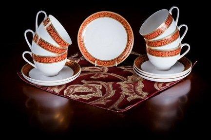 Набор чайных пар Триумф на 6 персон, 12 пр. 71236 А Akky akky набор чайных пар розалия на 6 персон 12 пр 71253а akky